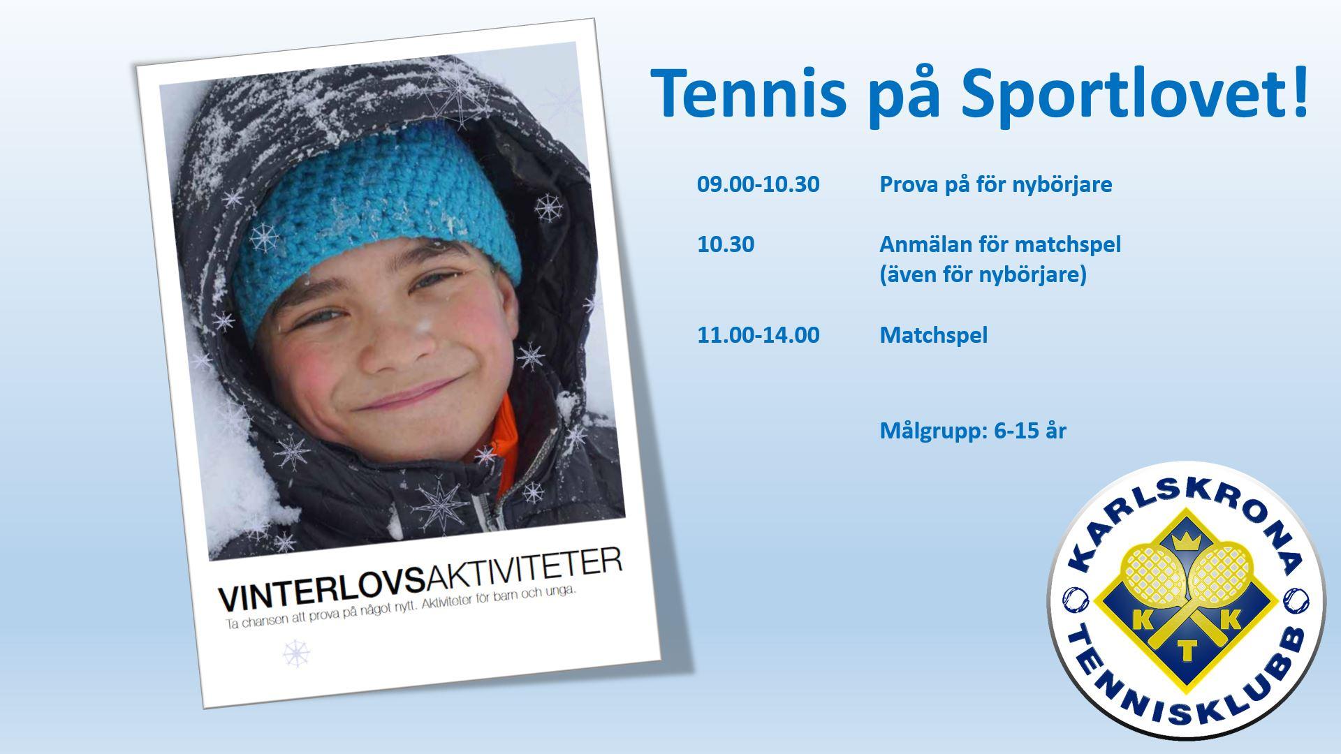 Vinterlovsaktivitet - Tennis