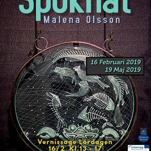 Invigning av utställningen Spöknät av Malena Olsson