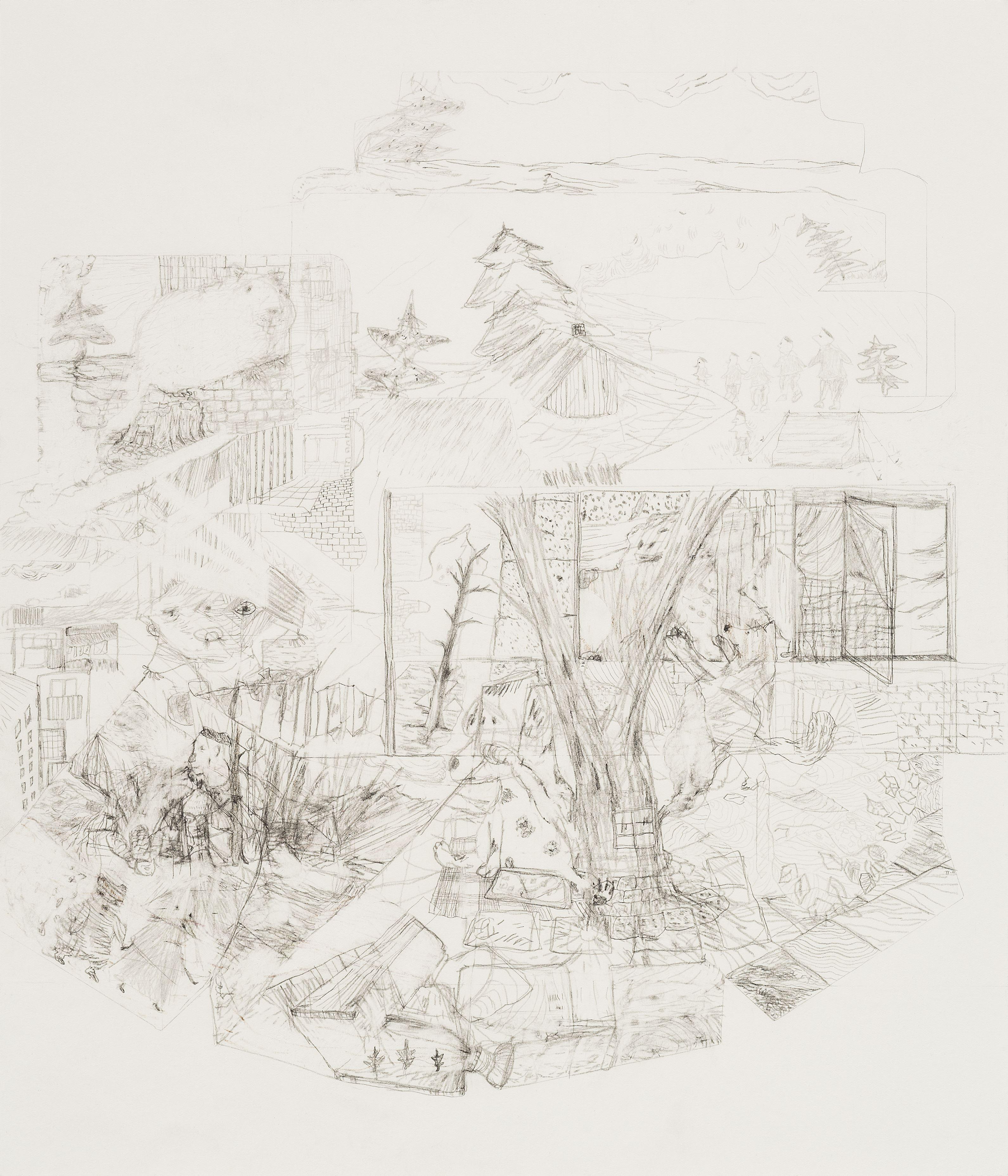 Nils Agdler,  © Bild: Tobias Törnqvist, Tobias Törnqvist - Drawings & collage at Ahlbergshallen