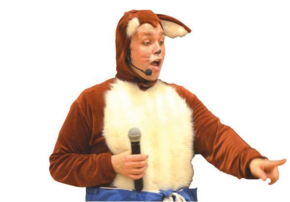Raffe räv från Kungaskogen hälsar på