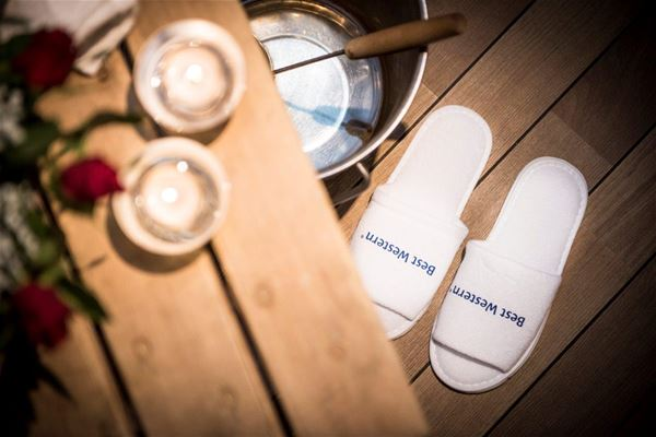 Sauna and slippers