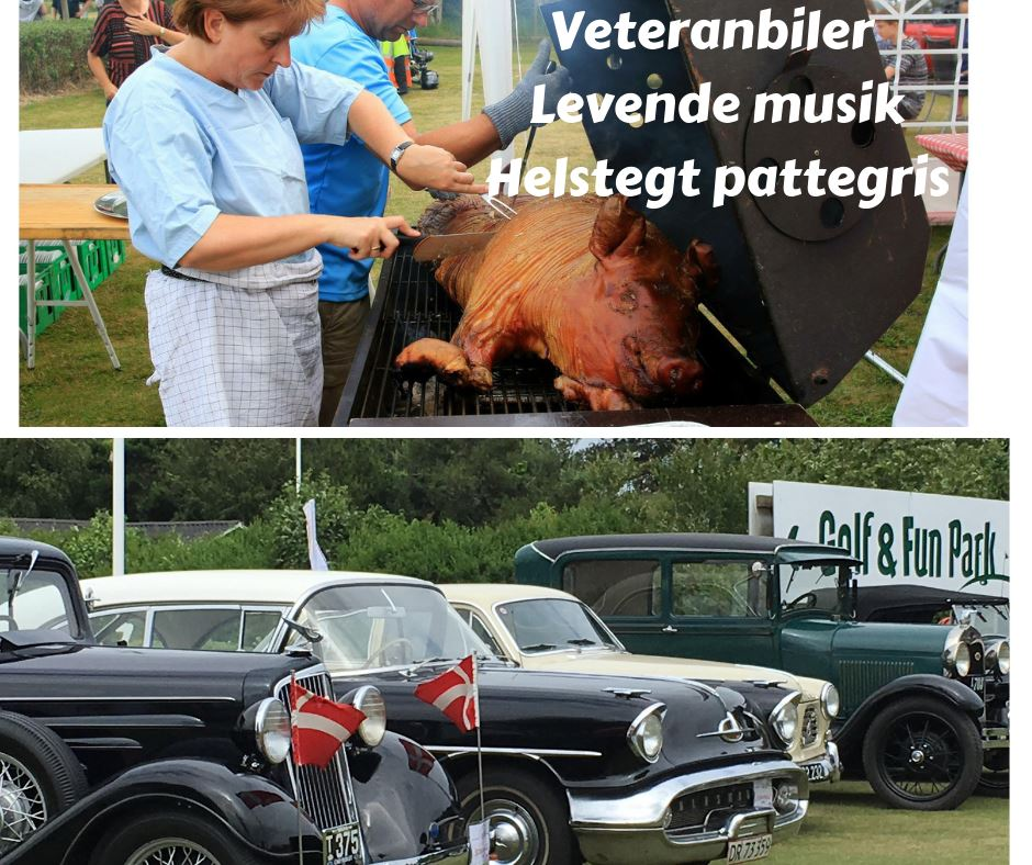 Veteranbil træf - Grisefest og live musik med Dronning Louise