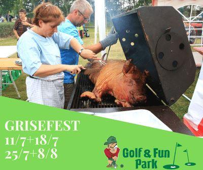 Grisefest på Golf og Fun Park i Marielyst