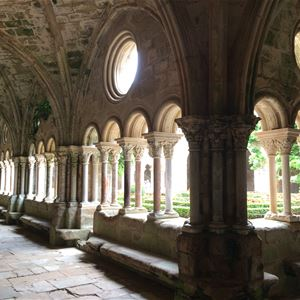 Excursion by minibus - Day - Fontfroide Abbey & Lagrasse village - Shared excursion - F / GB - Treasure Languedoc Tours