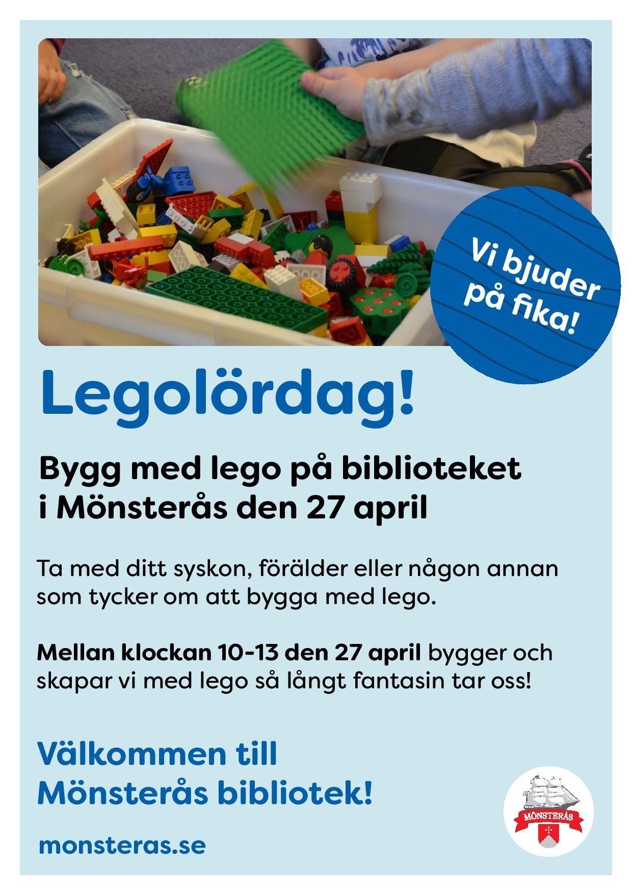 Legolördag på bibblan