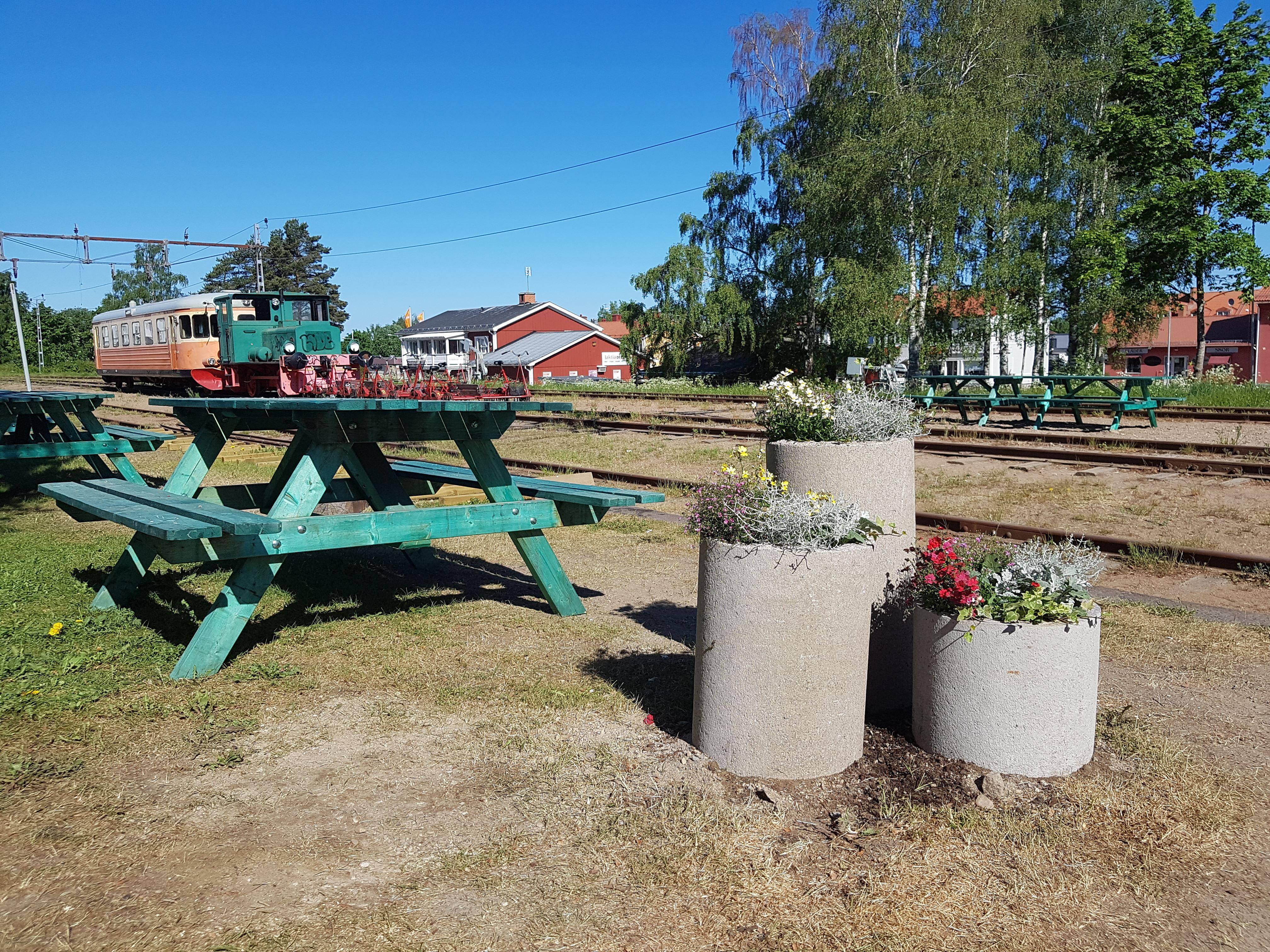Delsbo stationcafé at the Dellen railroad