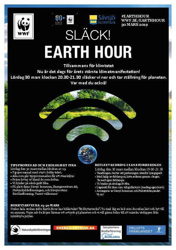 Bokbytarvecka 25-30 mars i samband med Earth Hour
