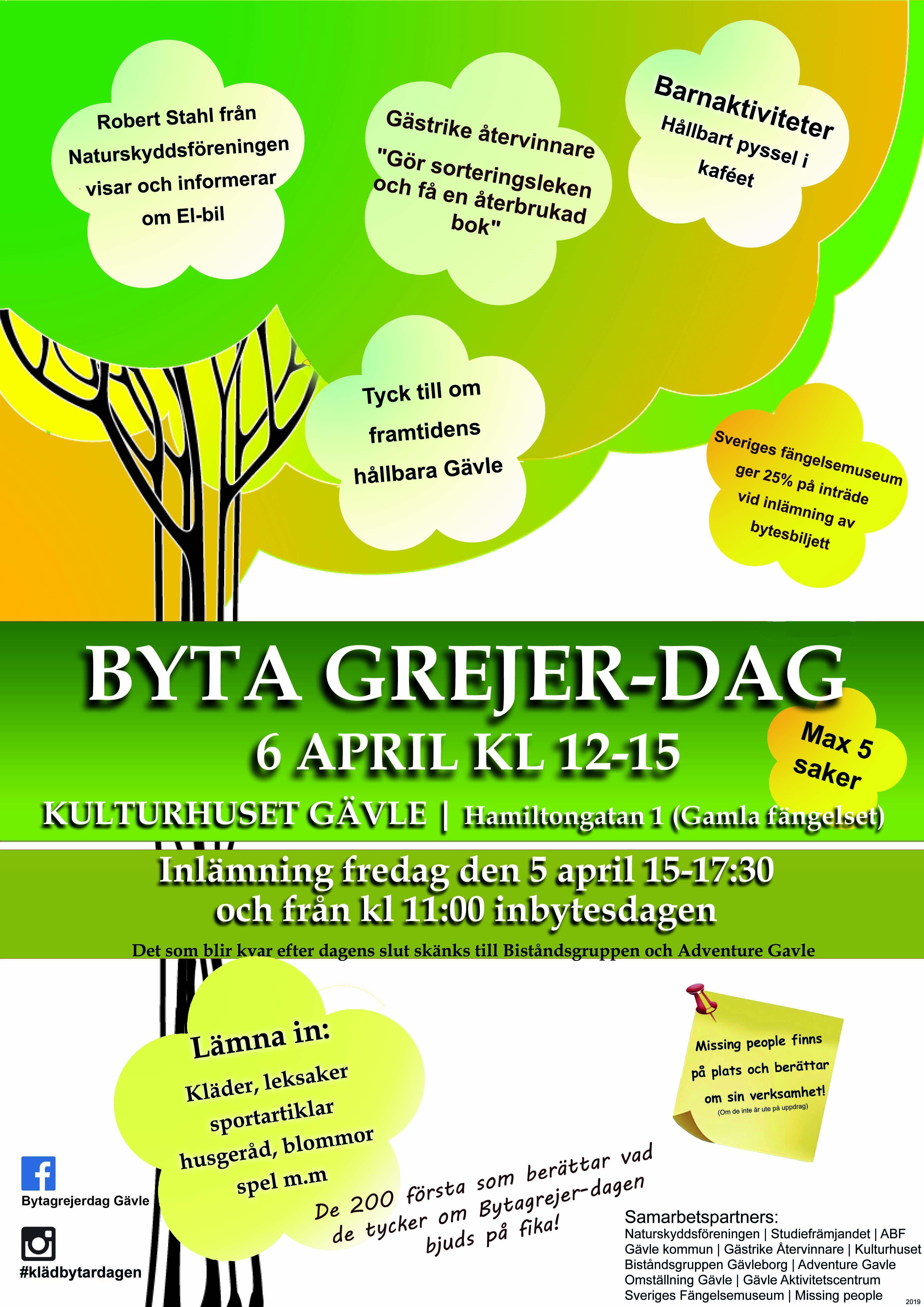 Byta Grejer-Dagen på Kulturhuset Gävle