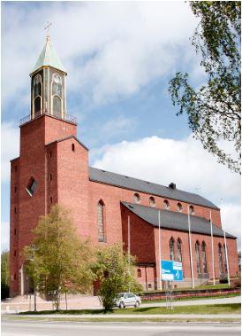 © svenska kyrkan, Stora Kyrkan i Östersund