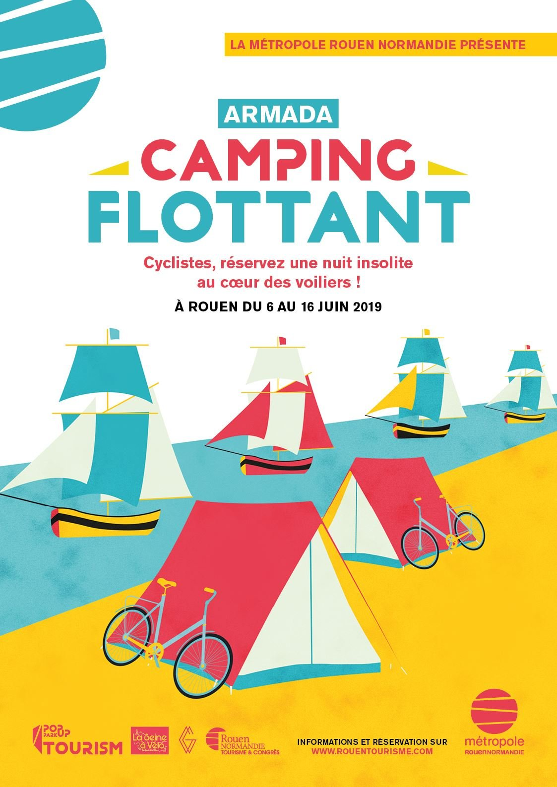 Camping flottant au cœur de l'Armada (offre réservée aux cyclistes)