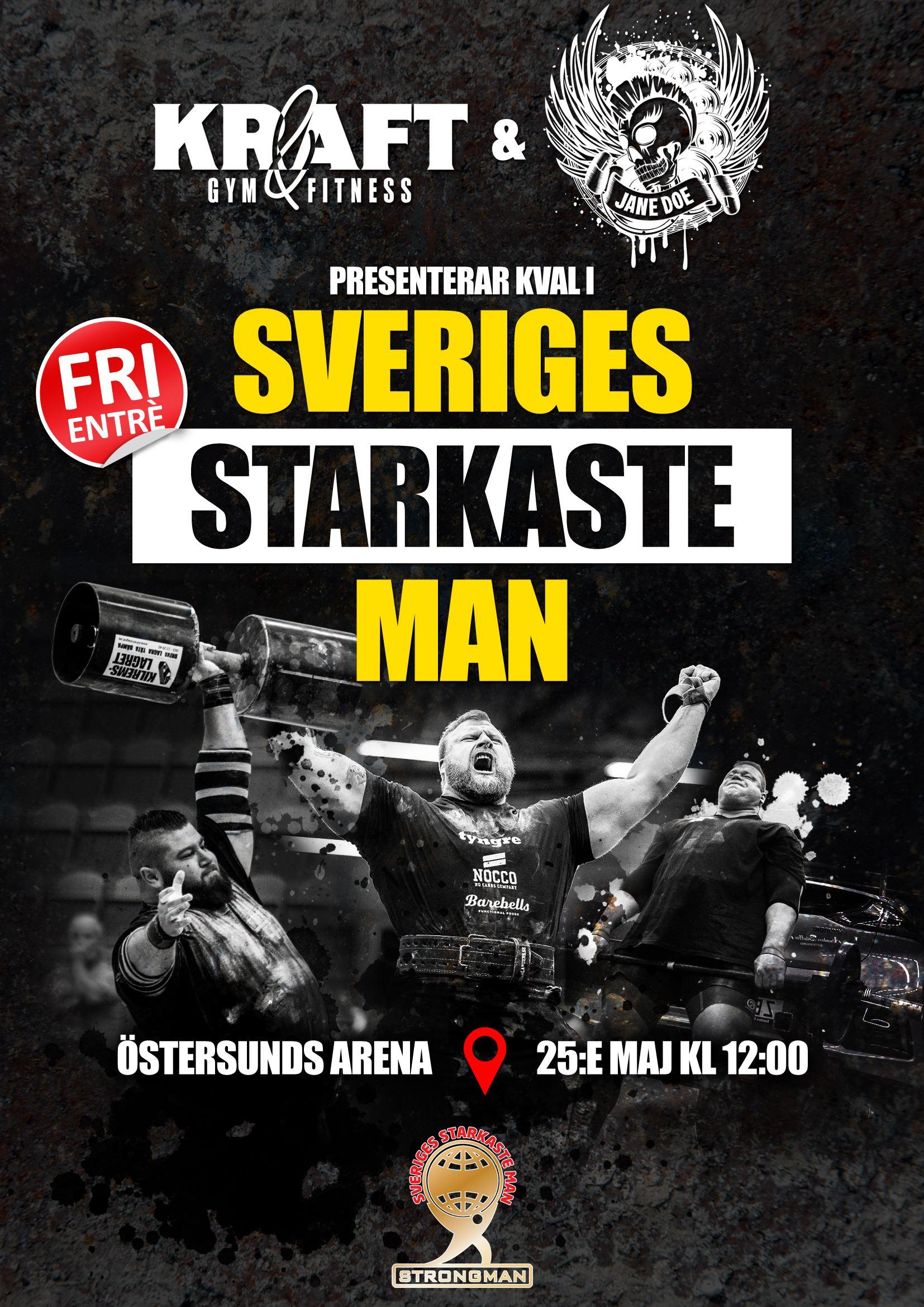 SM-kval till Sveriges starkaste man 2019