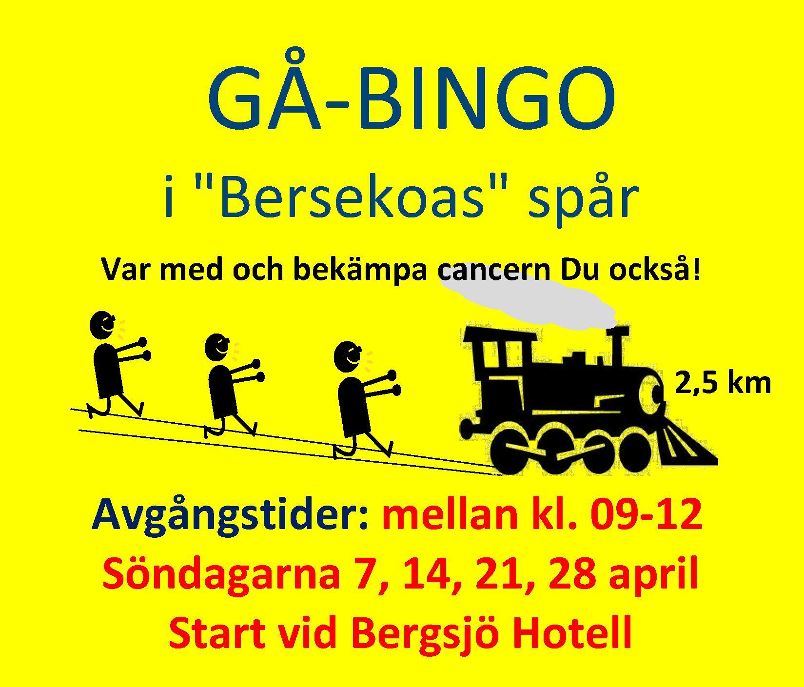 "Gå-bingo - i ""Bersekoas"" spår"