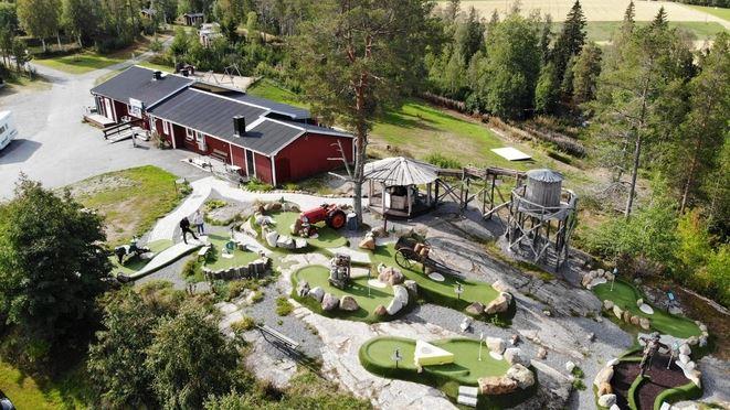 Minigolf at Lufta Camping