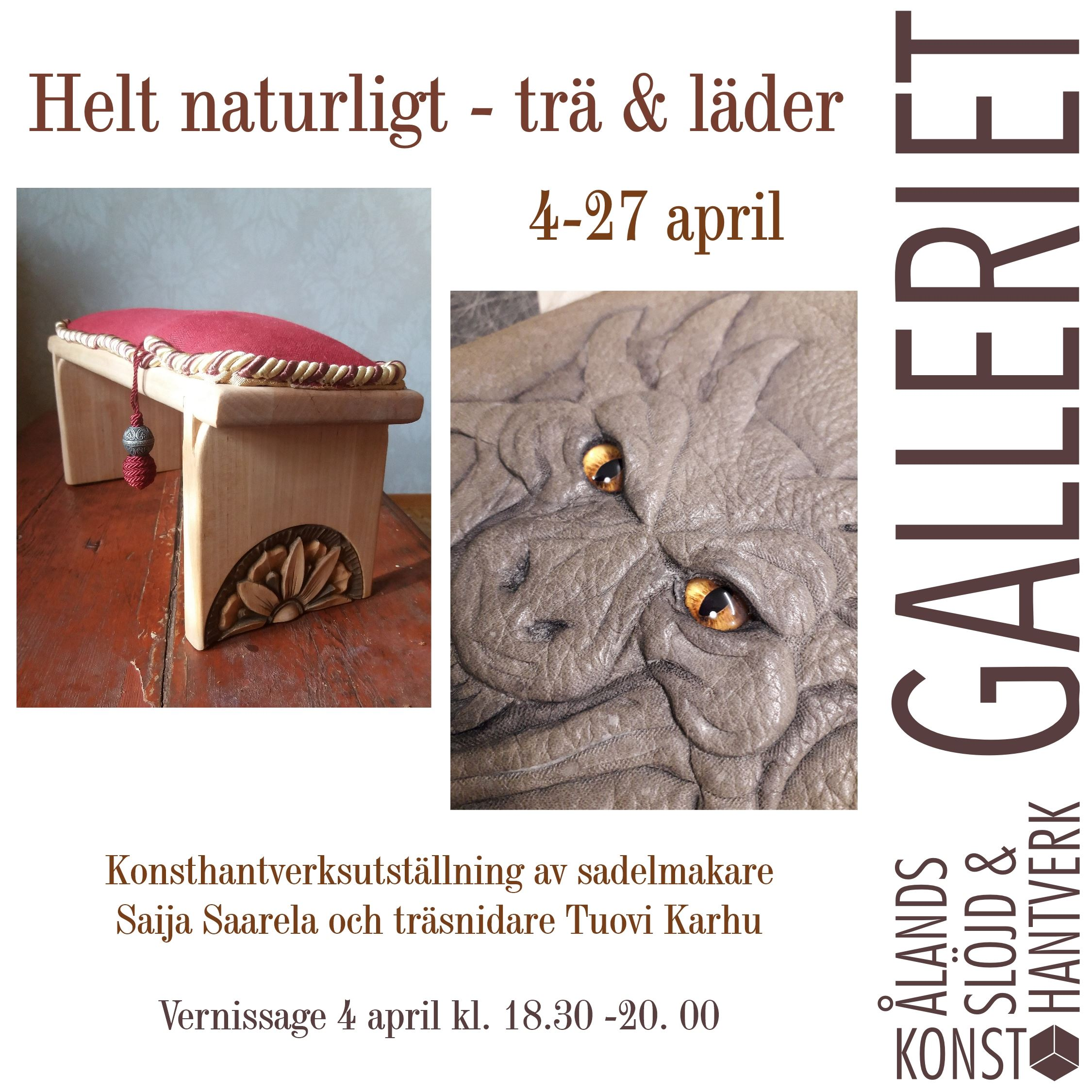 Crafts exhibition: Only natural - wood and leather
