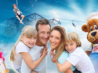 Hotell + dagskort till Kongeparken, magiske opplevelser for hele familjen!