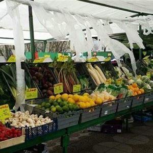 Frukt- och grönsaksmarknad på Sveatorget