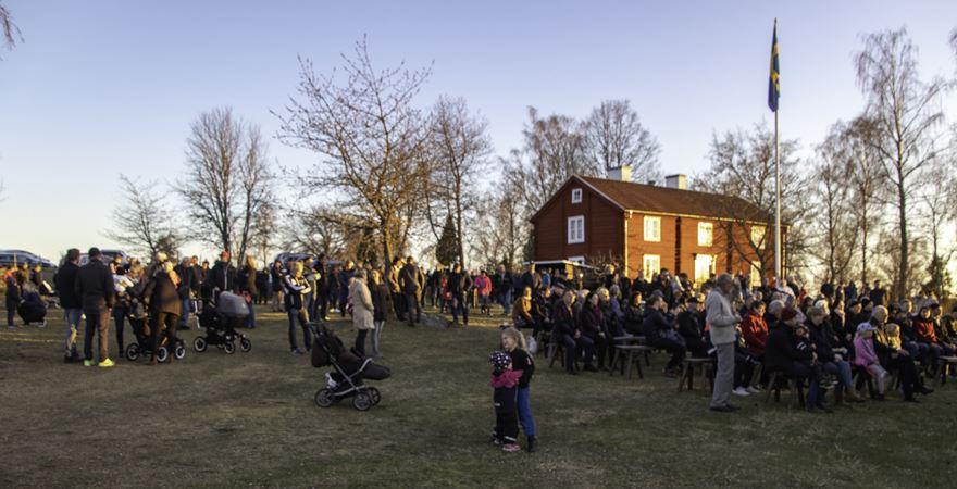 Valborgsfirande vid Hembygdsgården i Djursdala