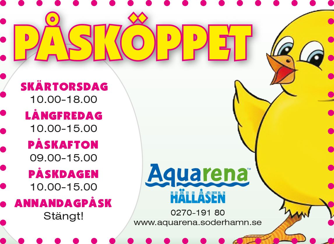 Påsklov på Aquarena Hällåsen!