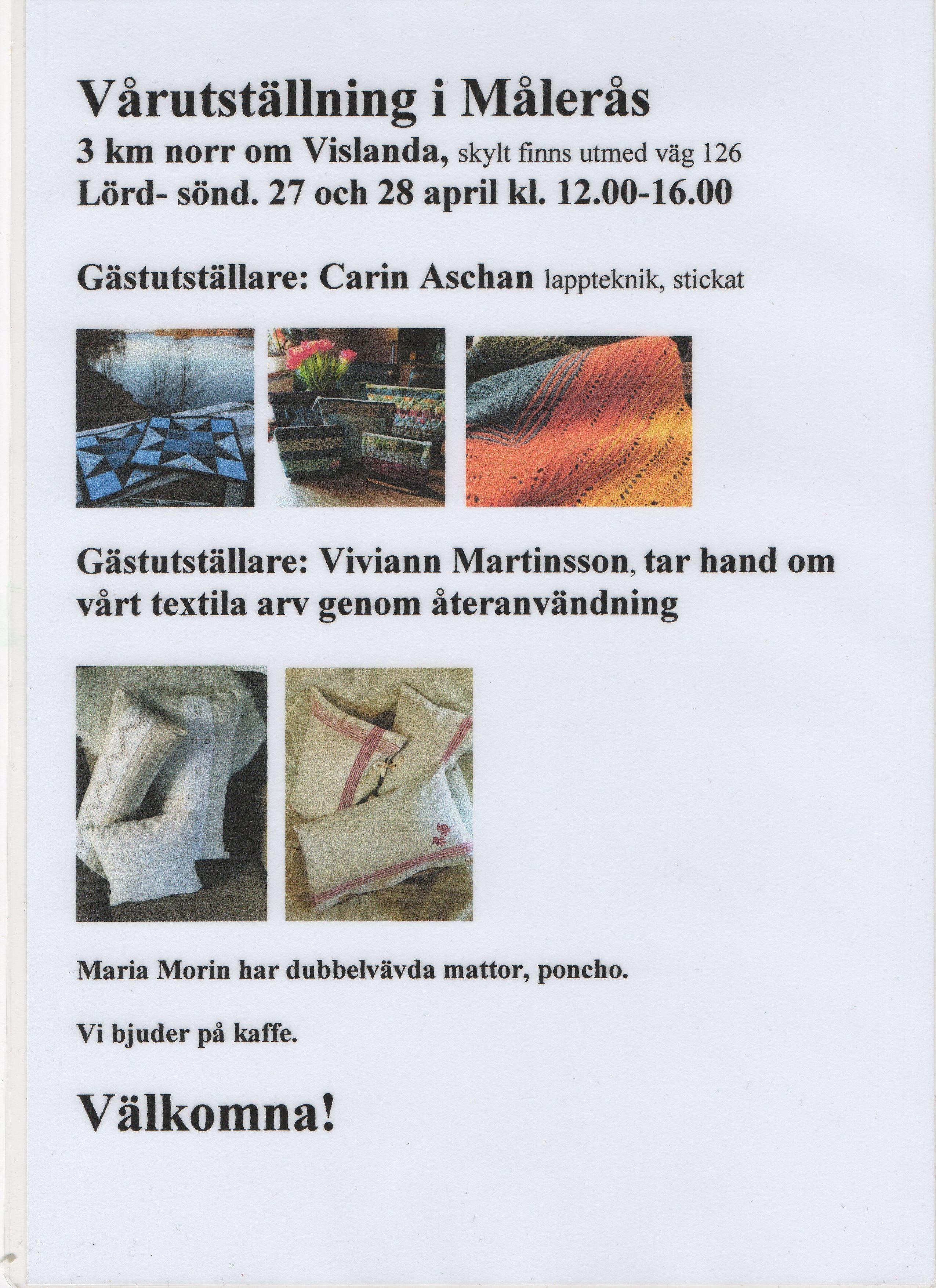 Utställning i Målerås