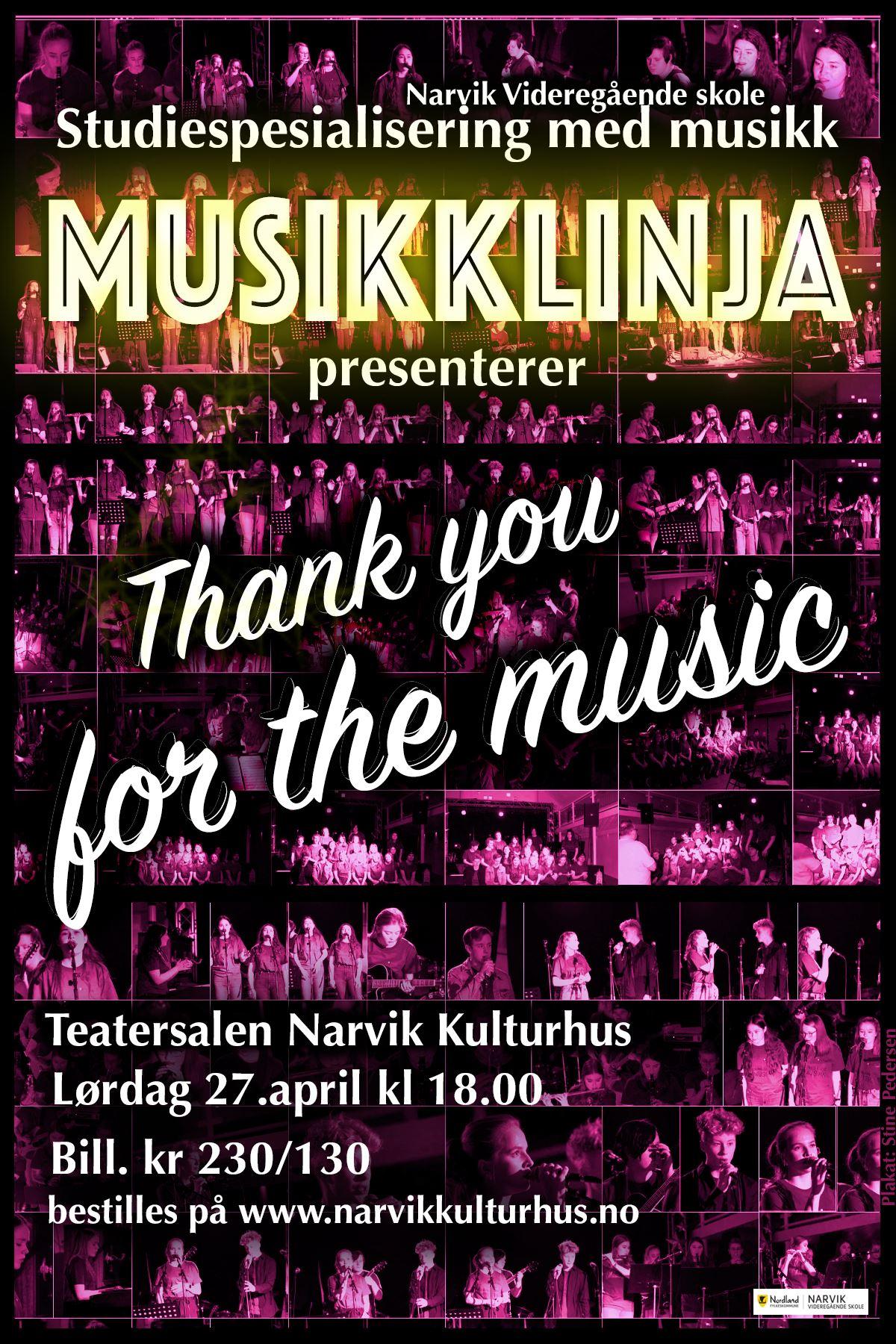© Nordland fylkeskommune, Narvik VGS, Thank You for the Music