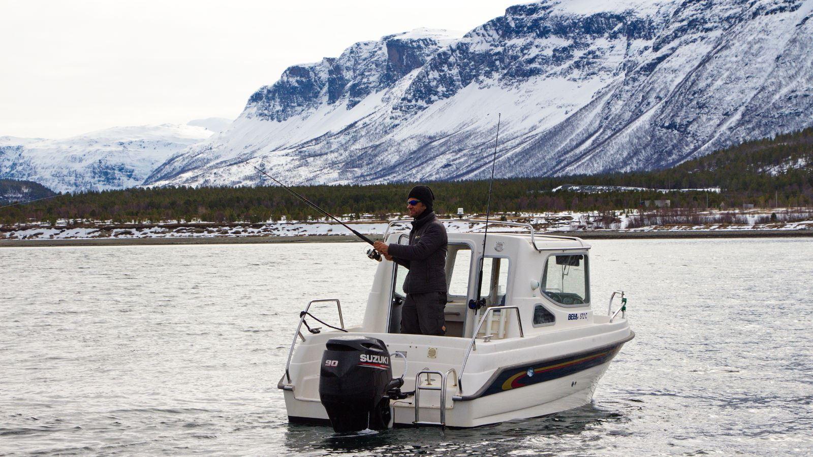 Båtutleie - 19 fots Bella 572 C - Skibotn Husky