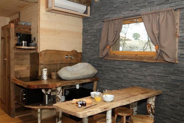 © @Laporte, HPCH126 - Cabane  avec son jacuzzi privatif