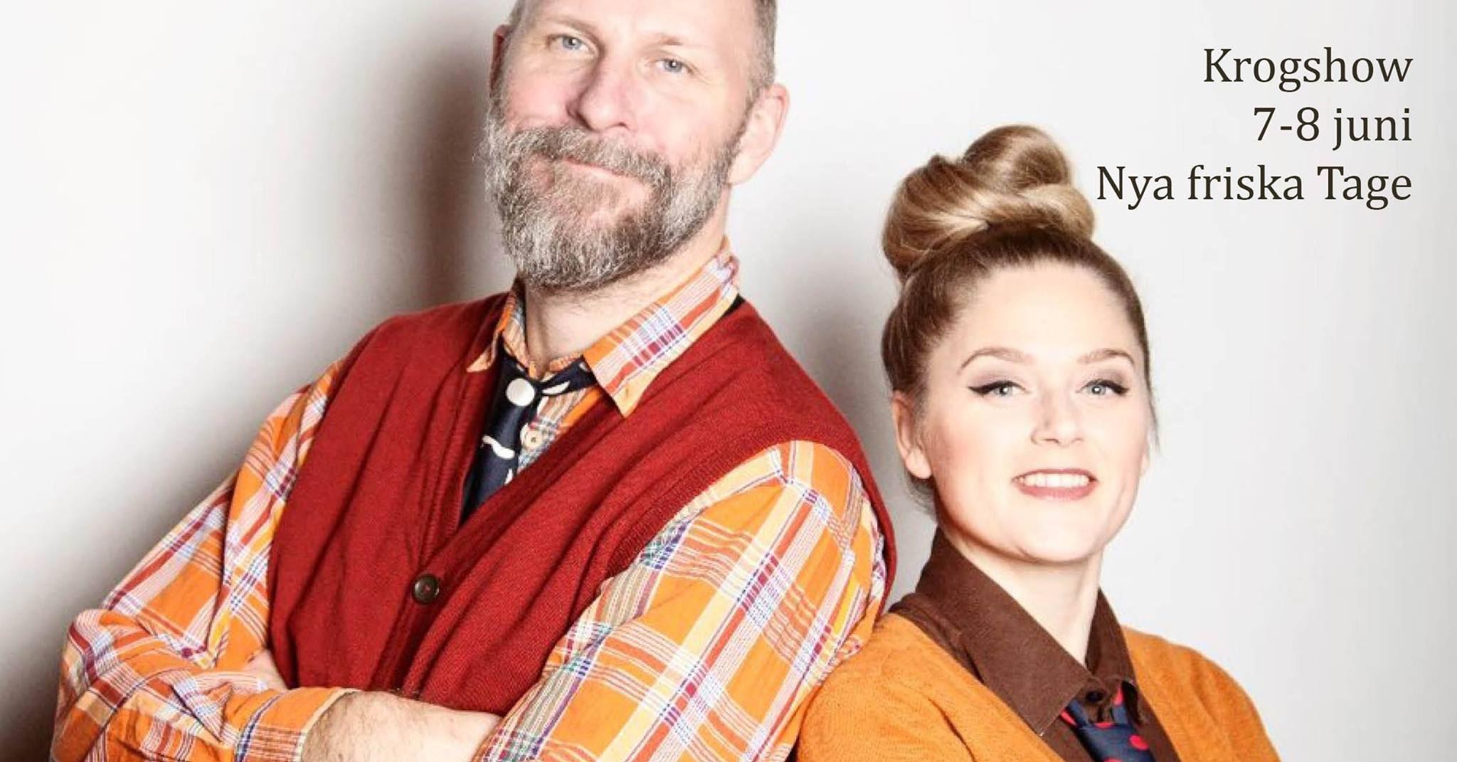 Krogshow Nya friska Tage - Kalle Lind och Mimi Terris med levande orkester