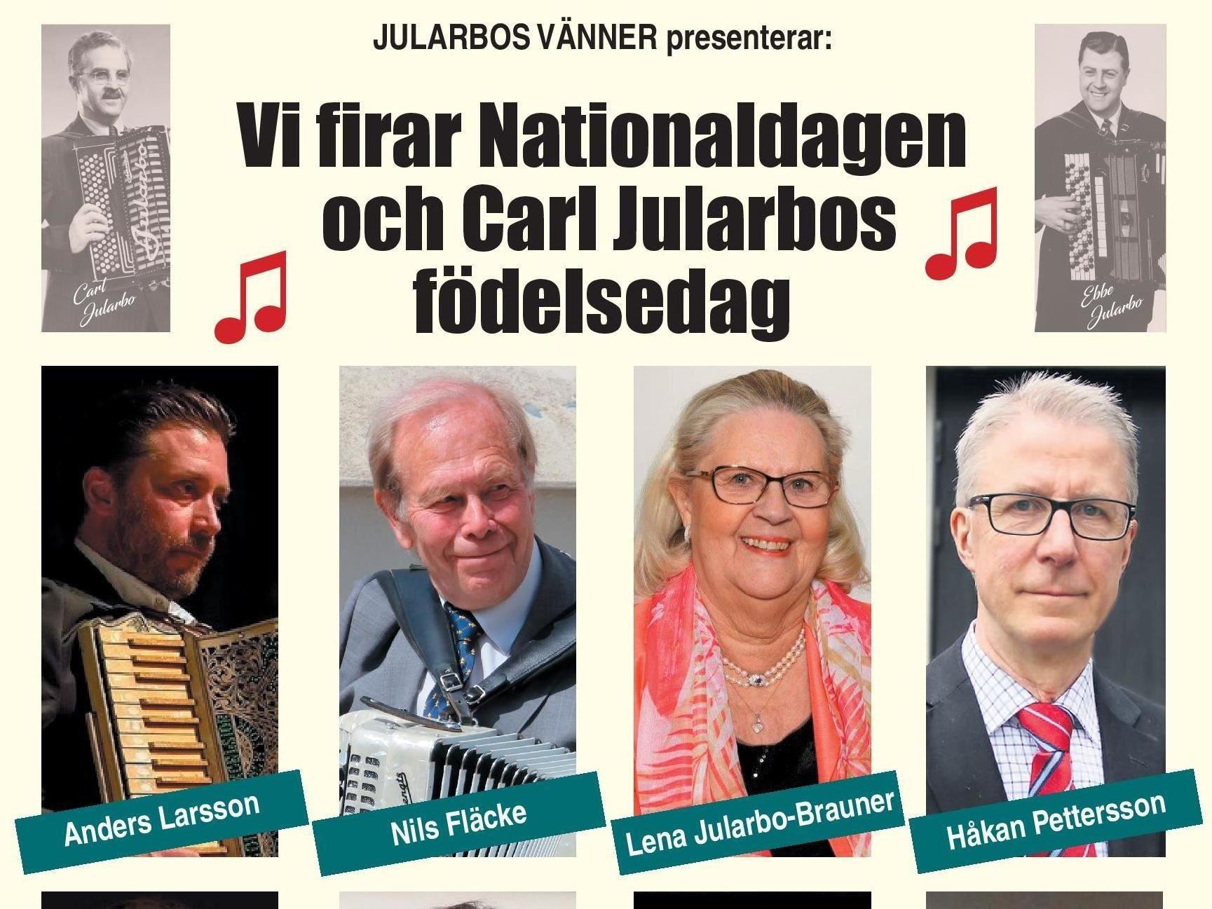 Nationaldagen och Carl Jularbos födelsedag