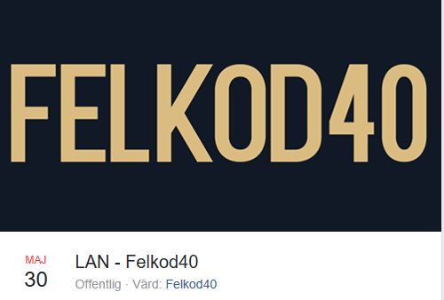 © Copy: Felkod40, LAN-Party