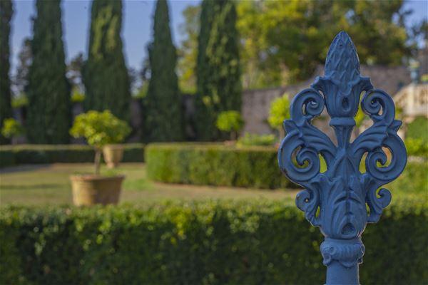 A glimpse of the Château de Flaugergues' gardens