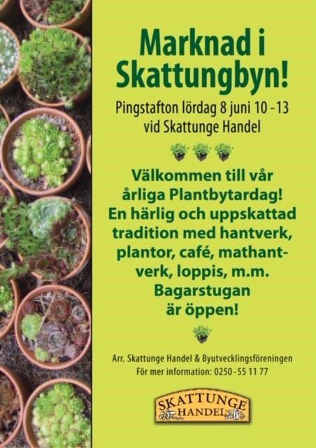 Marknad & Plantbytardag vid Skattunge Handel