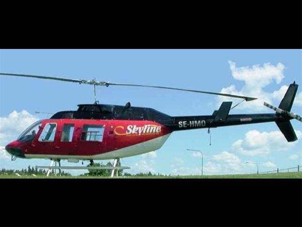 Helikopterfärd över Färnäs