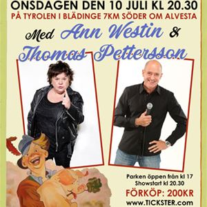 Tyrolen Stand Up med Ann Westin & Thomas Petersson