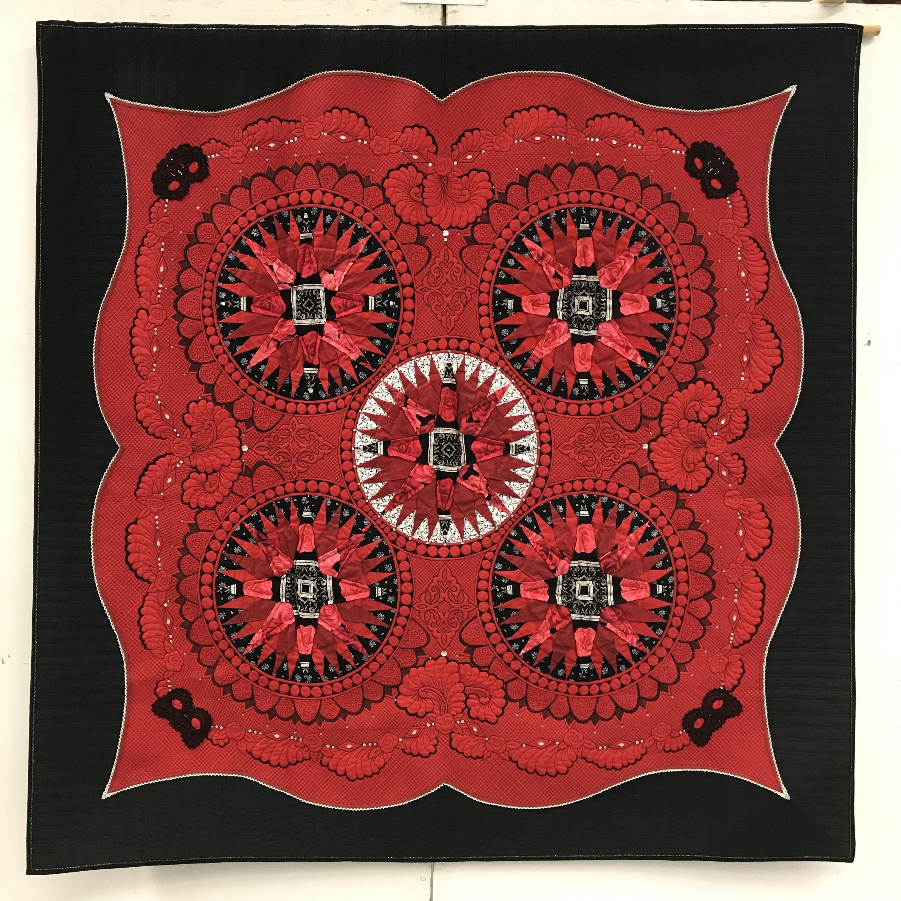 Utställning av textil konst