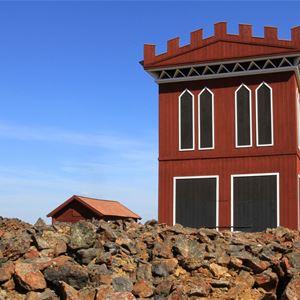 Visning av Falu Gruvas Sverige-unika och välbevarade industribyggnader från 1800-talet.