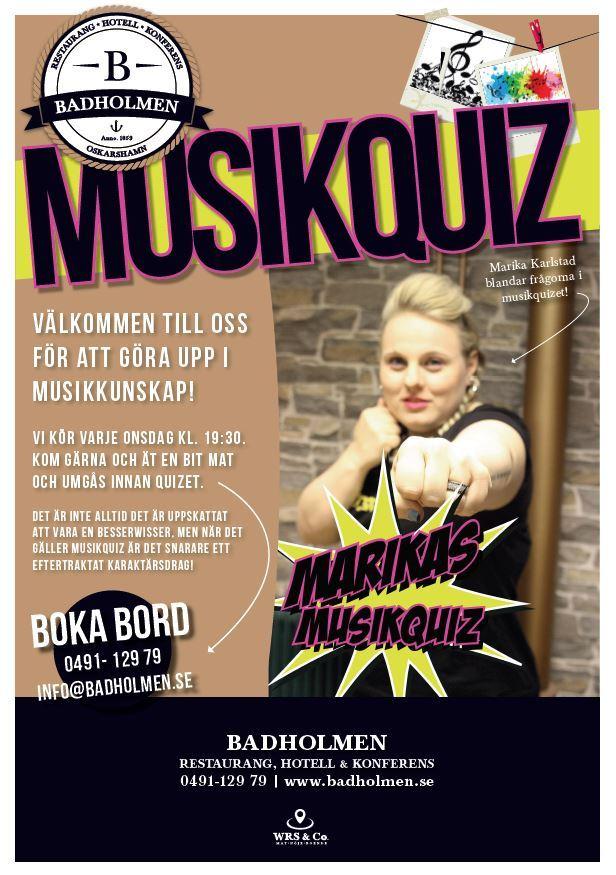 Live-musikquiz på Badholmen