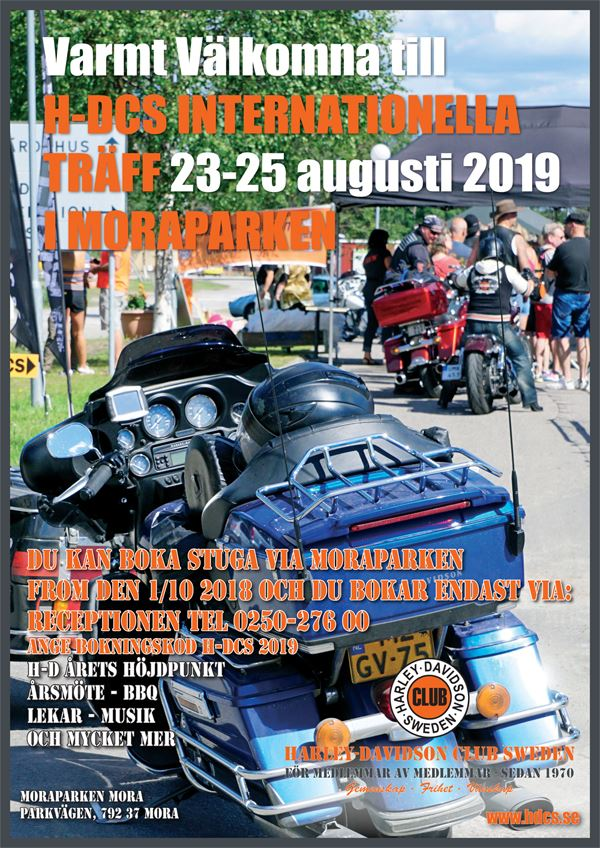 Harley Davidson Club Sweden, Internationell träff