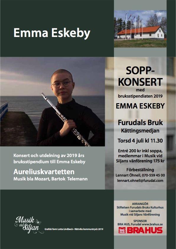 Musik vid Siljan - Soppkonsert med årets Stipendiat, Furudals Bruk