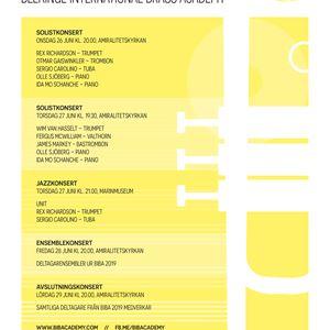 Ensemble concert - Blekinge International Brass Academy