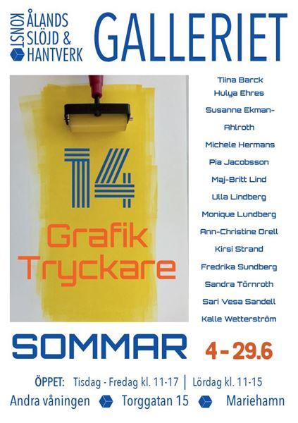 Konstutställning på Galleriet: 14 Grafiktryckare