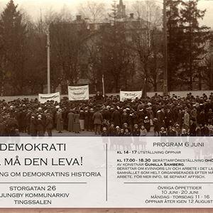 Utställning: Demokrati - ja må den leva!