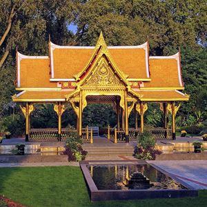 Thailändska paviljongen med Indal och Lidens fritidsgård
