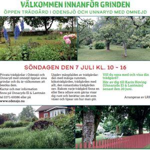 Välkommen innanför grinden - Öppen trädgård i Odensjö och Unnaryd med omnejd