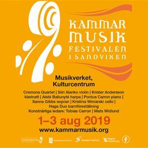 Kammarmusikfestivalen i Sandviken 1-3 augusti