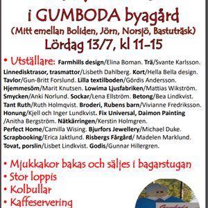 Sommarmarknad i Gumboda byagård