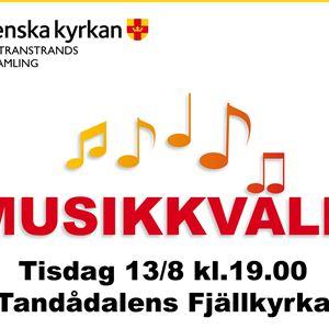 Musikkväll Tandådalens Fjällkyrka i Sälen