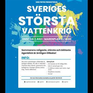 Sveriges största vattenkrig!