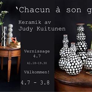 Ceramics exhibition by Judy Kuitunen: 'Chacun à son goût'