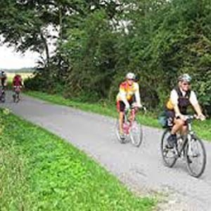 Combined cycling tour and walk to the Hyllekrog-Saksfjed, South Lolland