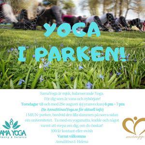 © Copy: AnnaStinas Yoga, YOGA i parken!
